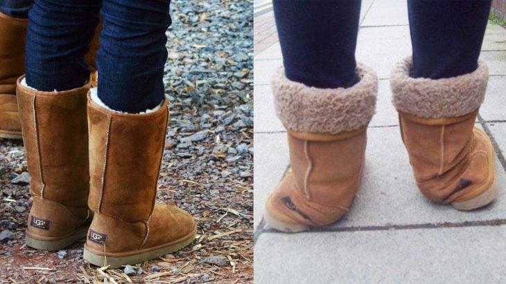 Hay dos clases de chicas que usan botas, las que las pisan mal y las que no