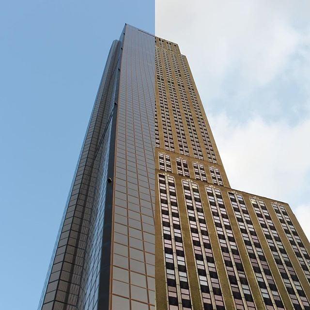 Edificio mitad y mitad