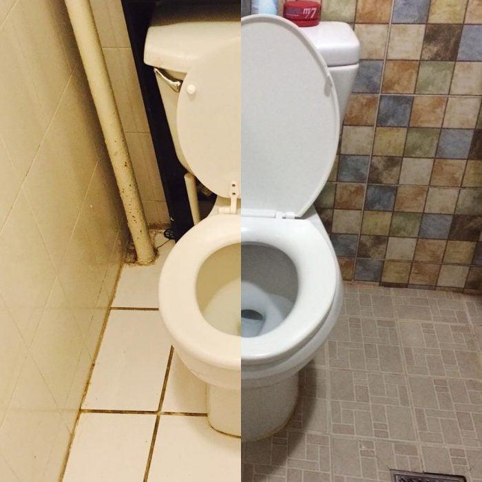 Taza de baño mitad y mitad