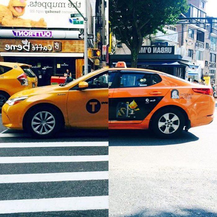 Taxi mitad y mitad