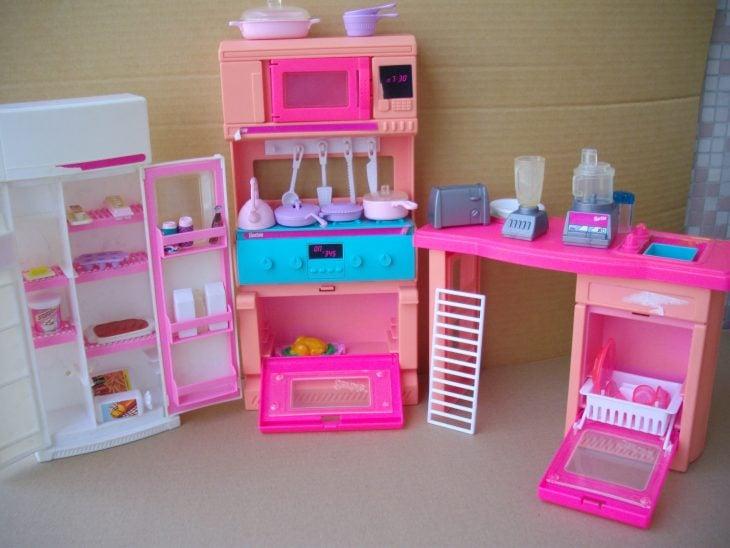 set de cocina de barbie de los 90's