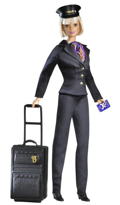 Muñeca barbie de los 90's como aeromoza