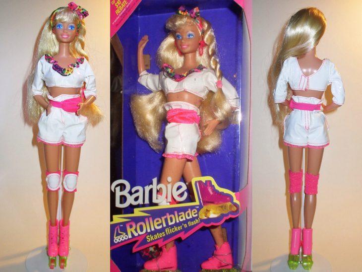 Muñeca barbie de los 90's que es patinadora