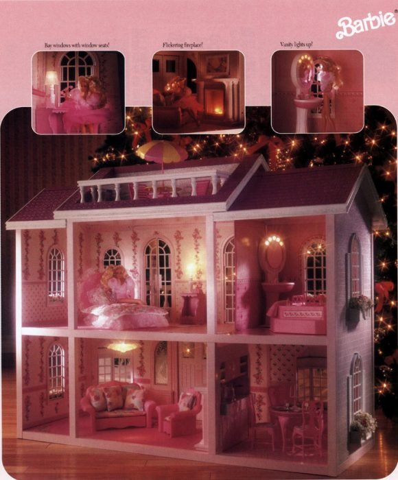 Mansión mágica de barbie de los 90's
