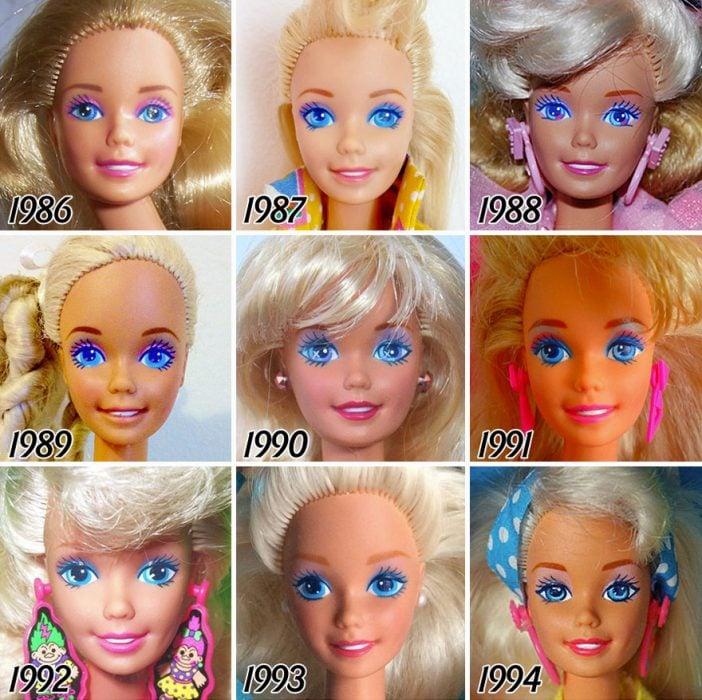 evolución de Barbie de 1986 a 1994