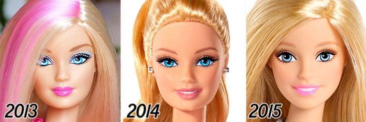 La evolución de Barbie de 2013 a 2015