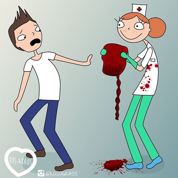 ilustración hombre que ve una placenta