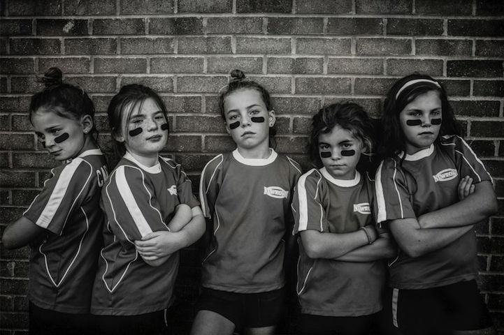 fotografías Kate T. Parker niñas futbolistas