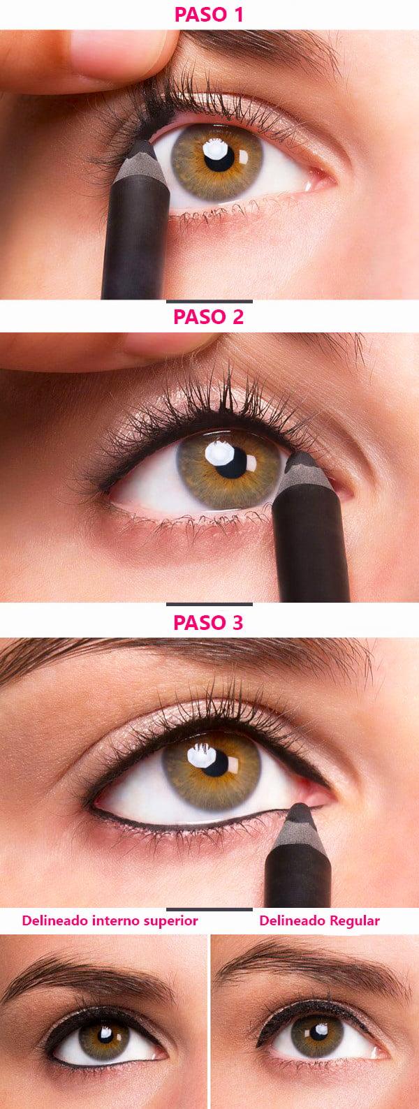 18 Consejos Para Conseguir Un Delineado De Ojos Perfecto - Paso-a-paso-como-pintarse-los-ojos