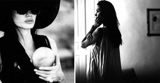 Bellas imagenes captadas por Brat Pitt de algunos íntimos momentos de su esposa Agelina Jolie