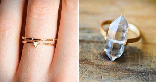 ideas de una atractiva alternativa a los anillos de compromiso convencionales o clásicos