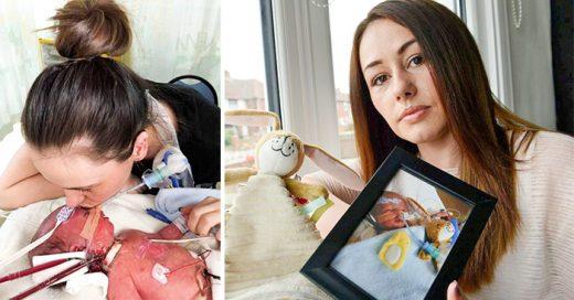 Despedida de unos padres a su bebé después de una semana de nacido, el cual sufría de una afección pulmonar extremadamente rara