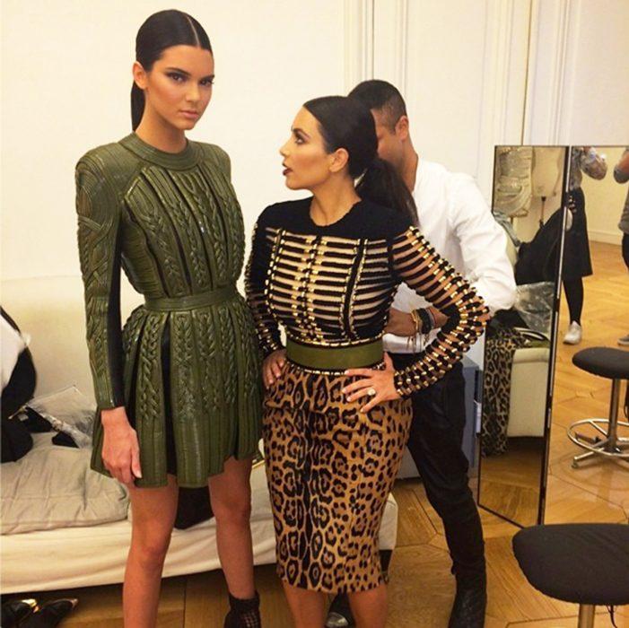 Kendall jener junto a kim kardashian