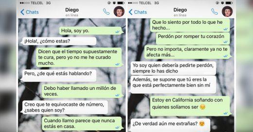 """Una mujer le hace una broma a su ex novio mandándole a través de mensajes de texto la letra de la canción """"Hello"""" de Adele"""