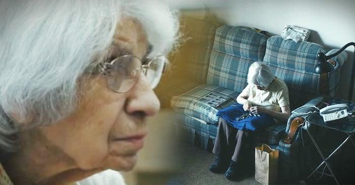 Cámara escondida graba lo que hace cuando está sola una mujer de 98 años