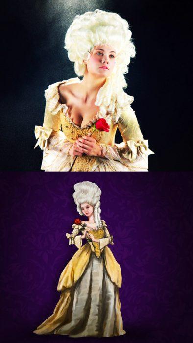 Princesas de Disney en su época real, Belle de la bella y la bestia