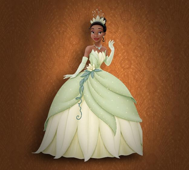 Princesa Tiana de la película la princesa y el sapo