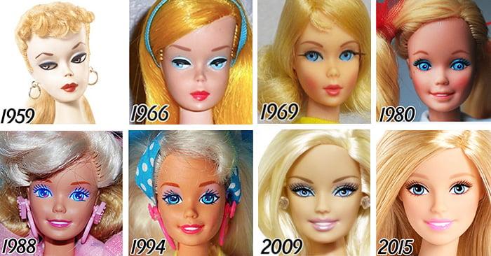 Evolución de la famosa muñeca Barbie en 56 años