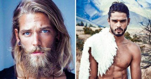 fotos de hombres muy atractivos con barba