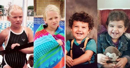 fotos de padres e hijos a la misma edad donde aparecen increíblemente idénticos