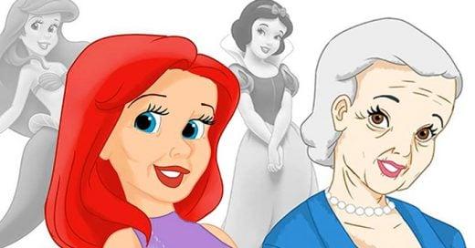 imágenes de como lucirían las princesas a su edad real