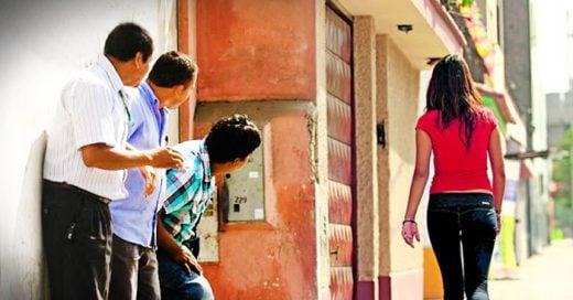 video que muestra la campaña anti acoso callejero en contra de mujeres