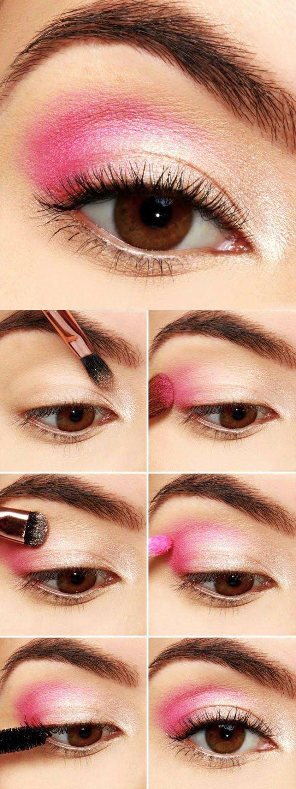 rosa al natural tutorial de maquillaje de ojos