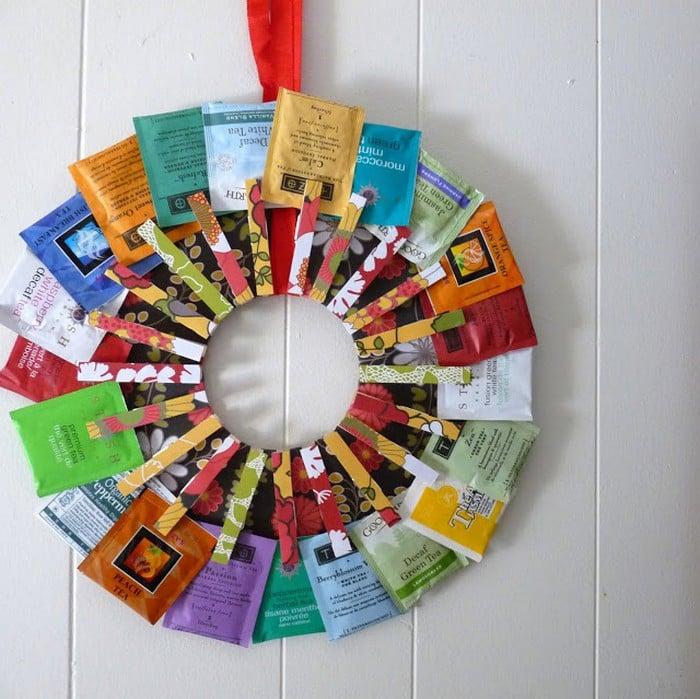 sobres de té de colores