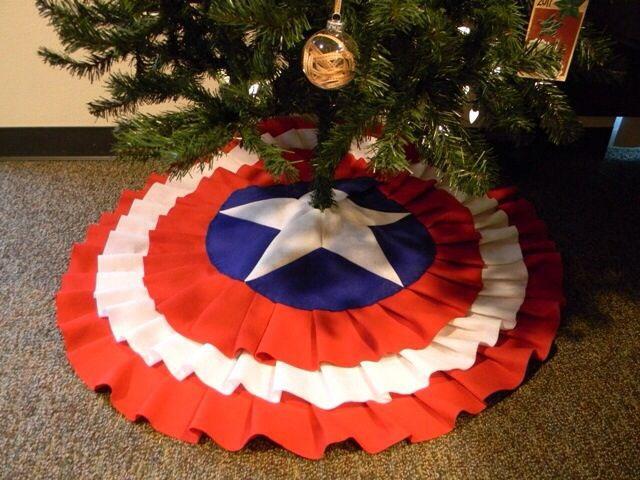 Funda de árbol en forma del capitán america