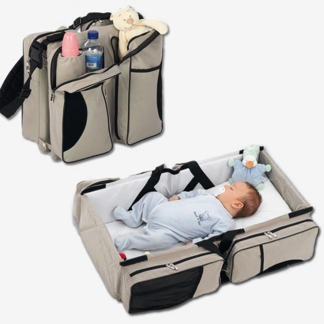 Bolso y cama para bebé