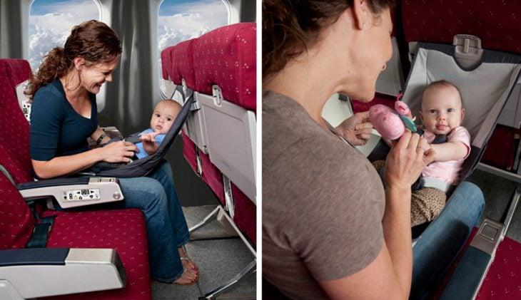 Hamaca de bebé para viajar en avión
