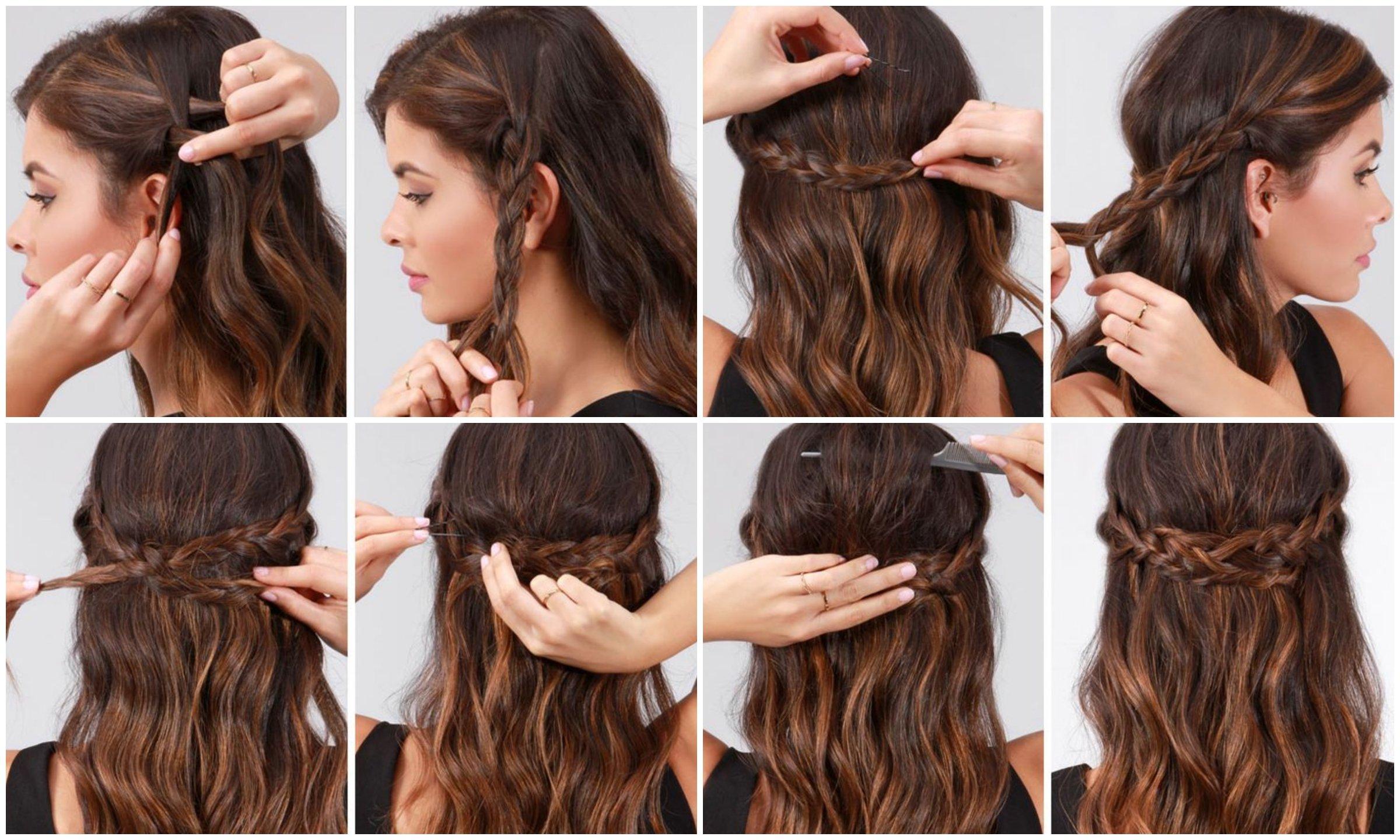 cabello largo y trenzado