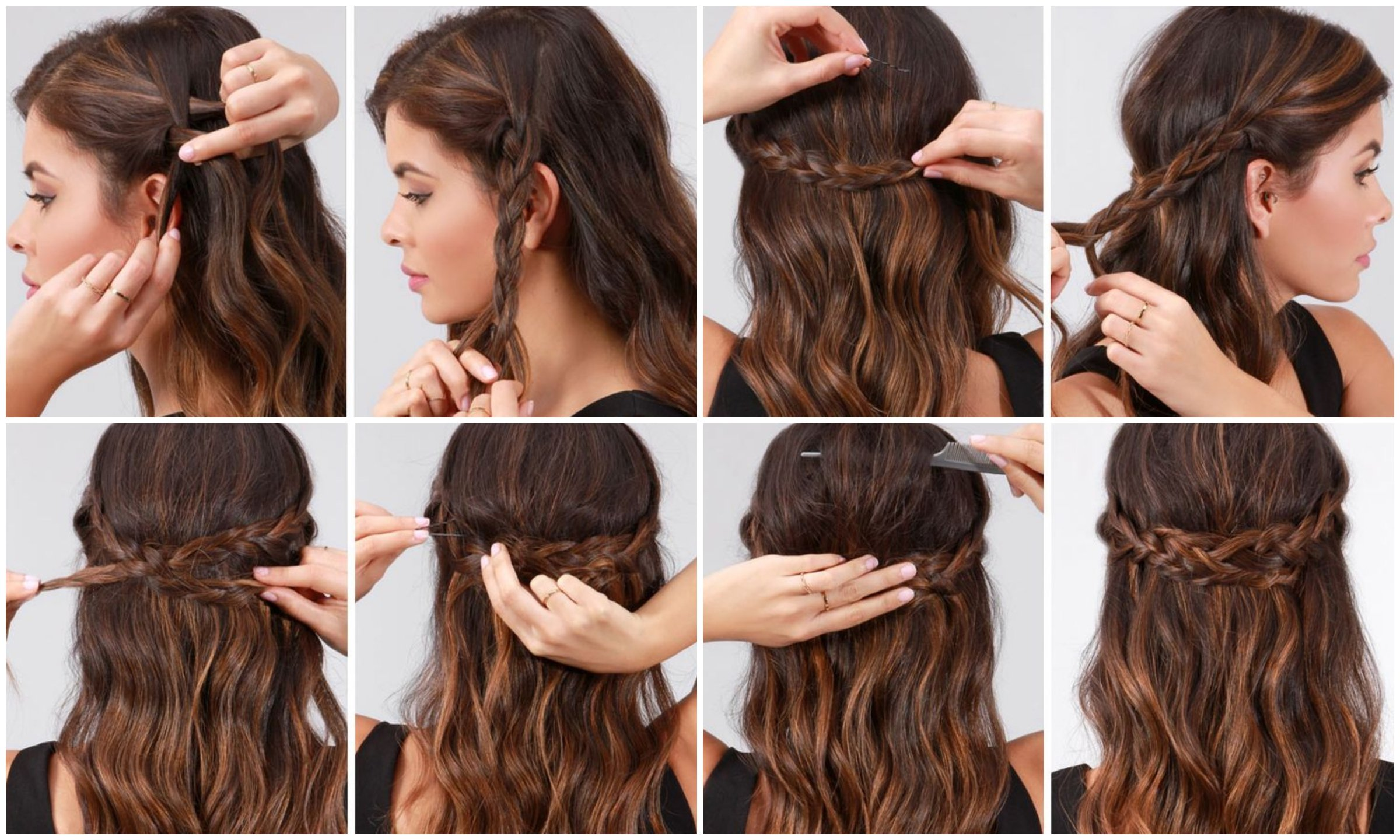 Elegantes maneras de peinar tu cabello para las fiestas de fin de a 241 o