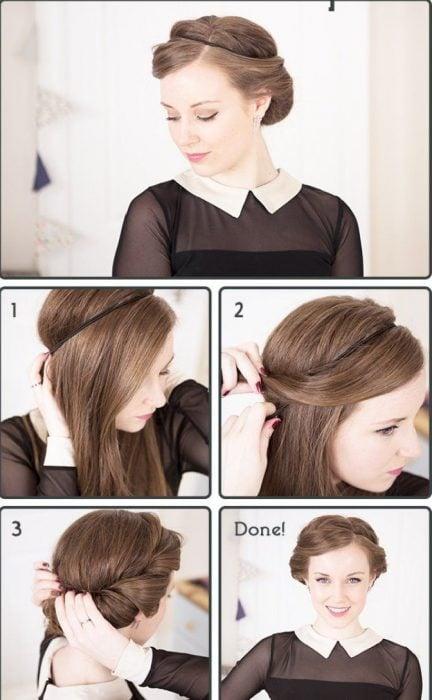 peinado estilo retro