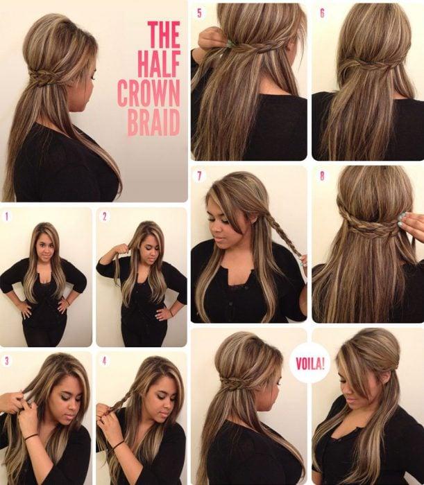 peinado con volumen parte superior