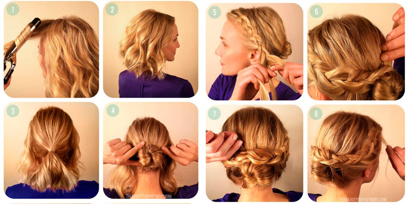 Peinados de fiesta en cabello corto