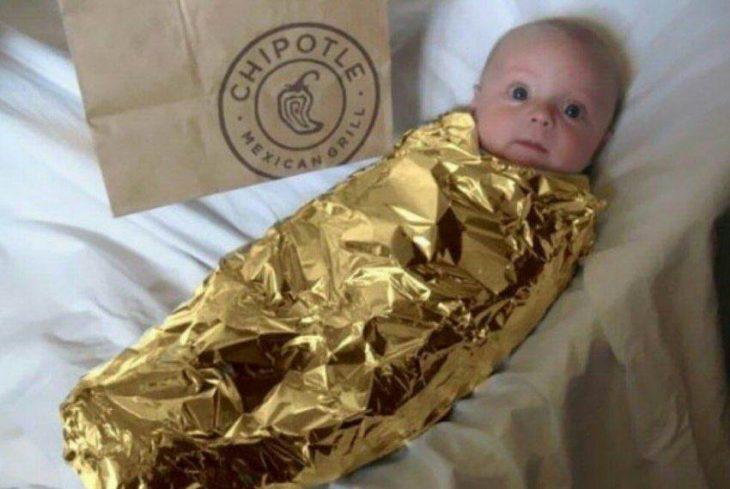 bebé disfrazado de chile chipotle