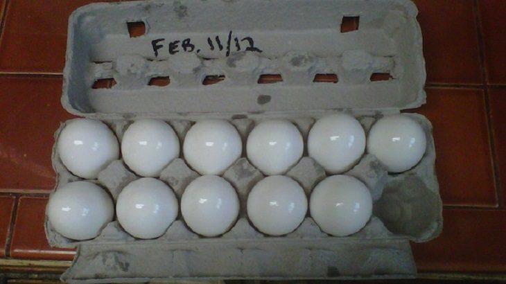 huevos con aceite mineral