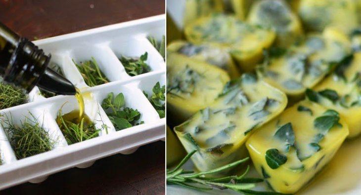 hierbas en aceite de oliva