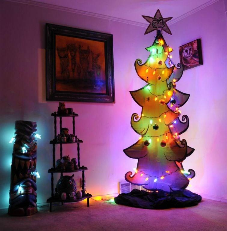 ideas de como hacer un arbol de navidad 25 Rboles De Navidad Creativos Y Originales Hechos Por Ti