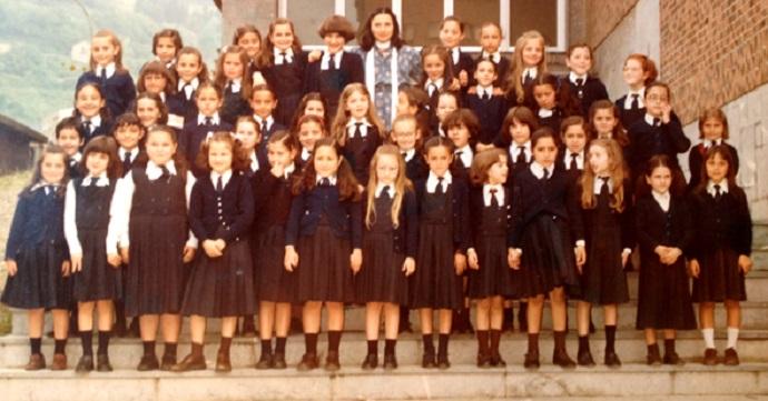 foto antigua de chicos de colegio