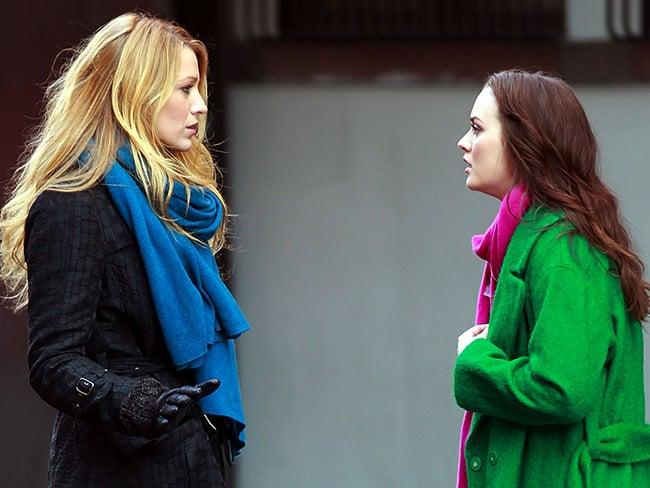 Escena de la serie gossip girls serena y blair peleando