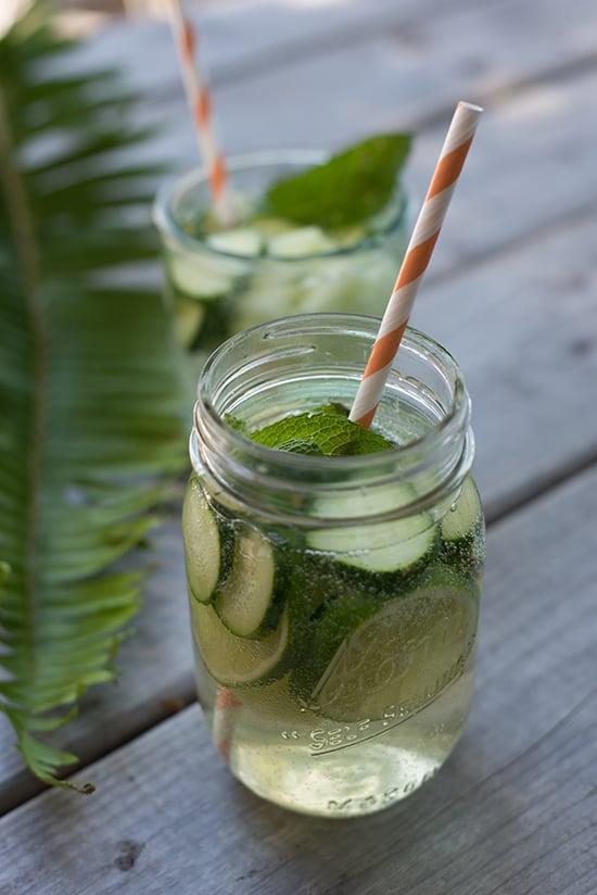 agua de pepino limon y chia para adelgazar