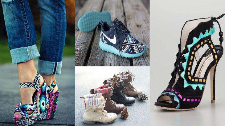 Zapatos con estampados aztec print