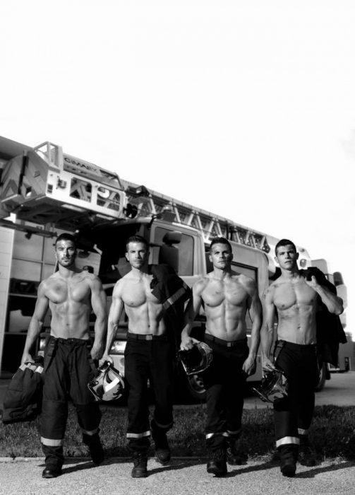 Calendario de bomberos franceses 2016