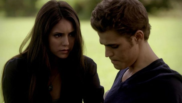 Escena de la serie the vampire diaries elena and stefan