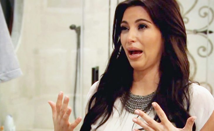 Kim Kardashian llorando