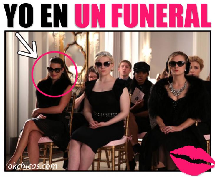 Meme yo en un funeral