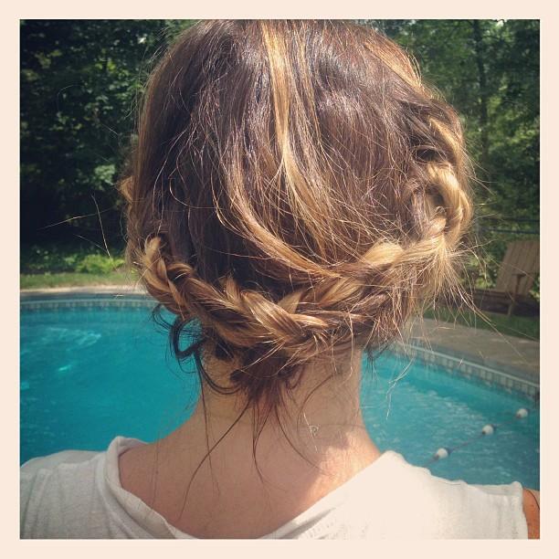 Chica con el cabello desarreglado