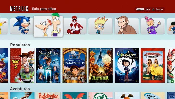 Cuenta de netflix con películas para niños